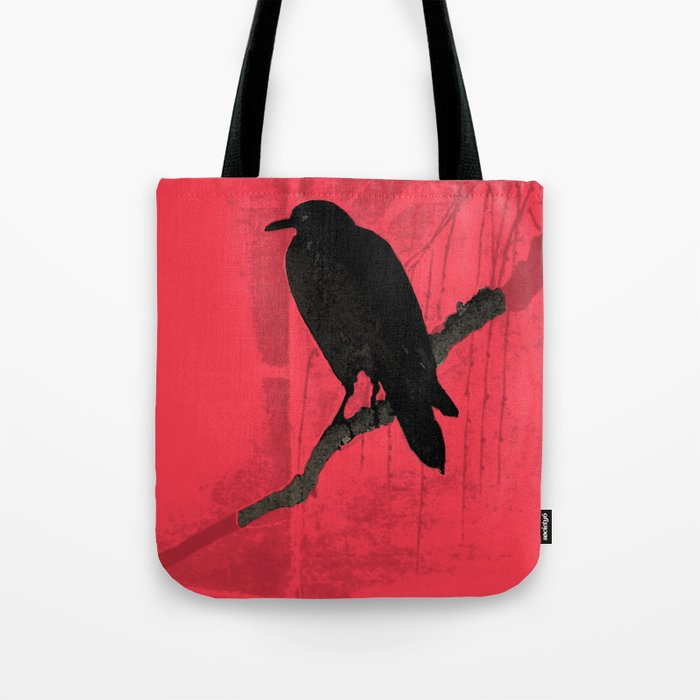 Raven in red Tote Bag