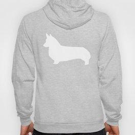 Corgi grey and white silhouette welsh corgi dog breed pet art minimal Hoody