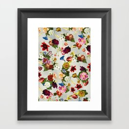 Flowery (white version) Framed Art Print