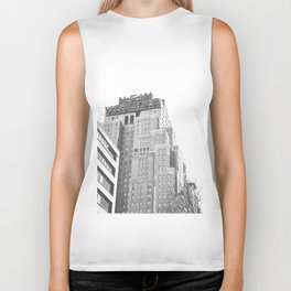 New Yorker Sign - NYC Black and White Biker Tank
