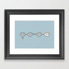 Cloudy Mornings Framed Art Print