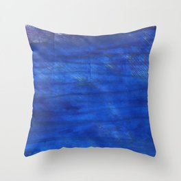 Denim Blue abstract watercolor background Throw Pillow