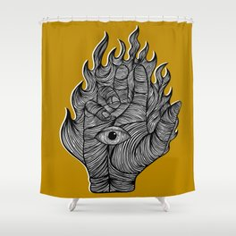 Weary weapons Shower Curtain