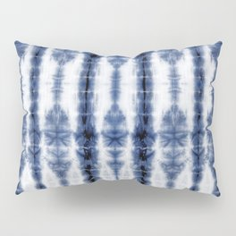 Tiki Shibori Blue Pillow Sham