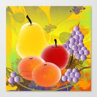 fruit Canvas Prints featuring Fruit by Ramon J Butler-Martinez