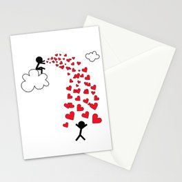 Love from the sky by Oliver Henggeler Stationery Cards