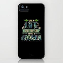 Funny Garden Fertilizer Sayings Gardener Gift iPhone Case