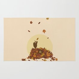 Autumn Hedgehogs Rug