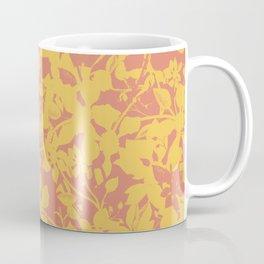 Yellow and Coral Botanical Pattern - Broken but Flourishing Coffee Mug