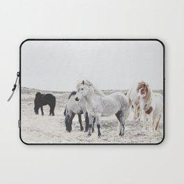 WILD AND FREE  1 - HORSES OF ICELAND Laptop Sleeve