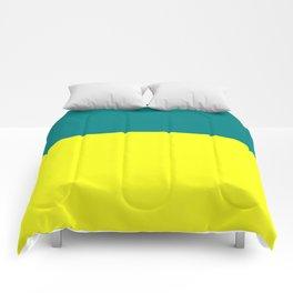 Teal Yellow Comforters