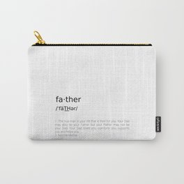 Father #minimalism Carry-All Pouch