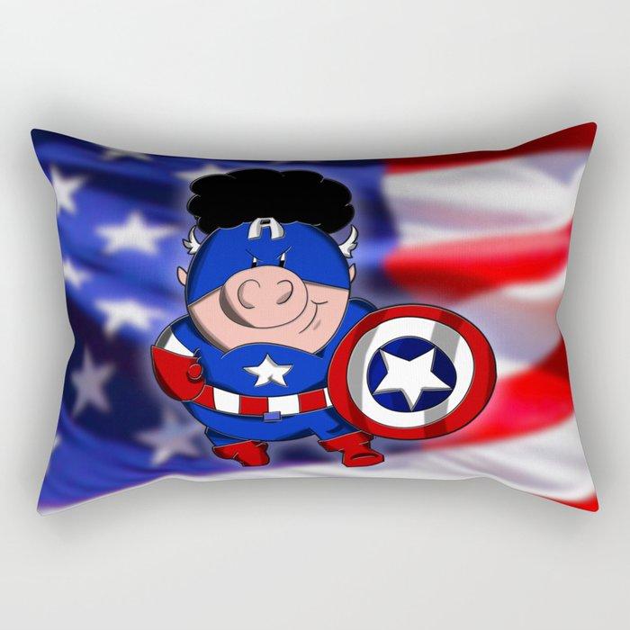 Cap'n 'Murica Rectangular Pillow