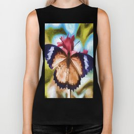 Beautiful Monarch Butterfly Biker Tank