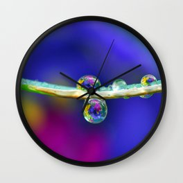 groovy drops II Wall Clock
