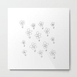 Pasture of Cats Metal Print
