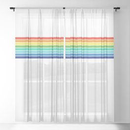 Vintage T-shirt No14 Sheer Curtain