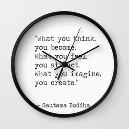 Buddha quote 5 Wall Clock