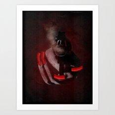 Grunge Bang Bang Red Nails  Art Print