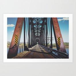 Badlands Bridge Art Print