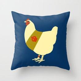 Decorated war chicken Throw Pillow