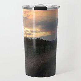 Sunset at Old Walnut Canyon Travel Mug