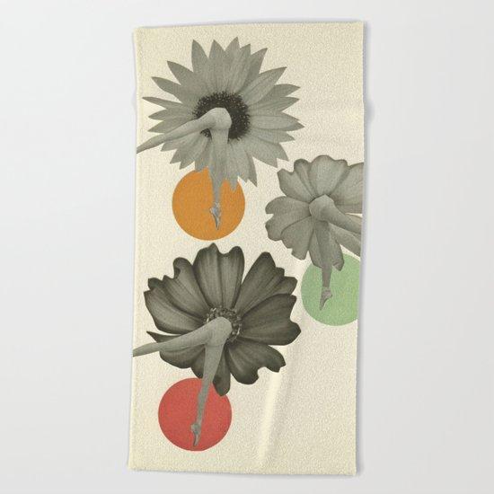 Flower Girls Beach Towel
