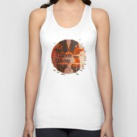 hemingway Tank Tops featuring Been There Done That < The NO Series (Brown) by Wayne Edson Bryan