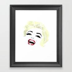 Bombshell Series: Fame - Marilyn Monroe Framed Art Print