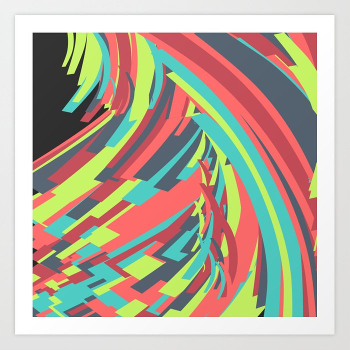 Abstract Rainbow Art Print