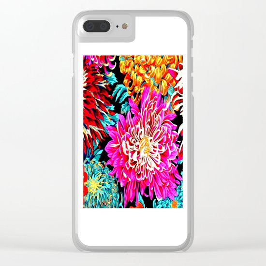 Chrysanthemums Clear iPhone Case