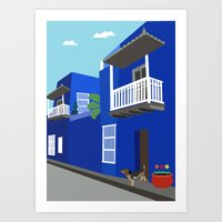 colombia Art Prints featuring Colombia  by Design4u Studio