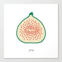 fig Canvas Prints featuring FIG by Lara Trimming