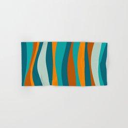 Liquid Stripes in Rust Orange Aqua Turquoise Teal  Hand & Bath Towel