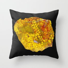 Cady Mountain Yellow Plume Agate Throw Pillow