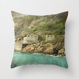 St. Thomas Ruins Throw Pillow