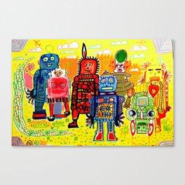 Save The Robots Canvas Print