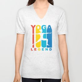 Retro 1970's Style Yoga Legend Unisex V-Neck