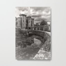 The Castle Moat Metal Print
