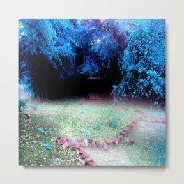 Enchanted Park Turquoise Metal Print