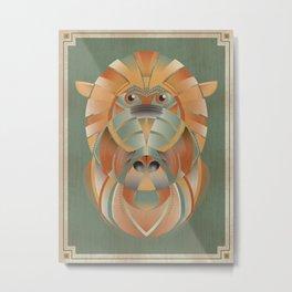 Bubba the Baboon Metal Print