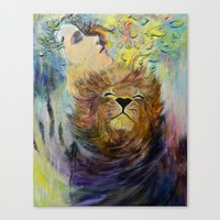 beauty and the beast Canvas Prints featuring Beauty&Beast by Chengxi Tian