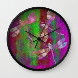 A Dragonflies QR Wall Clock