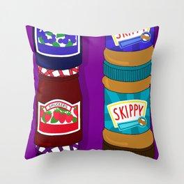 Sugar Crash No. 6: PB+J Throw Pillow