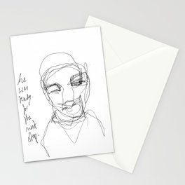 He was ready for the next step Stationery Cards
