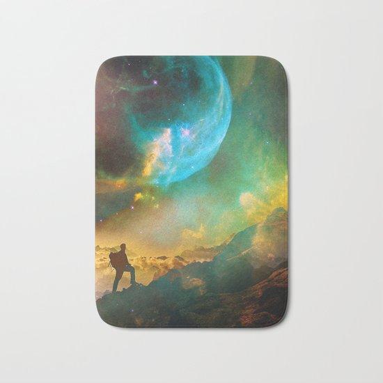 Vibrant Space Hiker Bath Mat