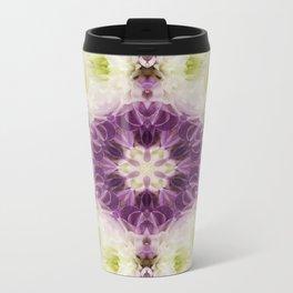 Chrysanthemum Kaleidoscope Metal Travel Mug