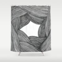 hair Shower Curtains featuring Hair by BLEH collective