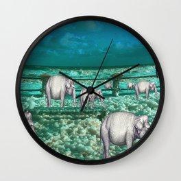Elefantes en movimiento. Wall Clock