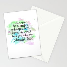 Can you remember who you were...? Stationery Cards